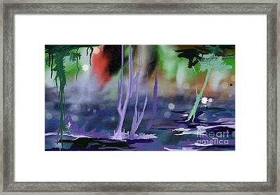 Framed Print featuring the painting Fantasy With A Touch Of Reality by Rushan Ruzaick