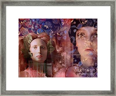 fantasy women art - Eleusis Framed Print
