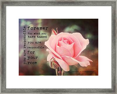 Fantin-latour Roses Quote Framed Print by JAMART Photography