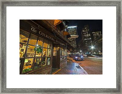 Fanueil Hall Union Oyster House Boston Ma Framed Print by Toby McGuire