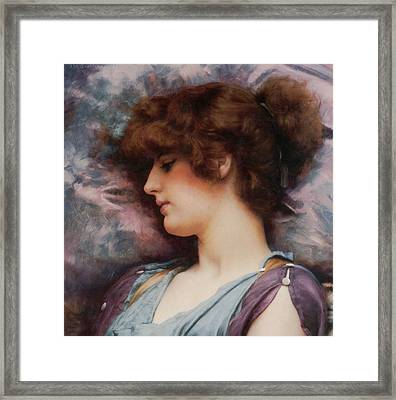 Far Away Thoughts Framed Print by John William Godward