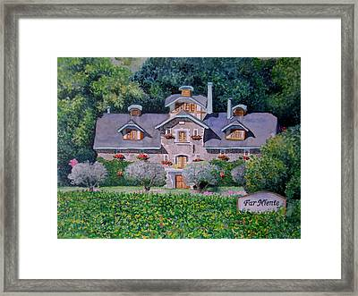 Far Niente Winery Framed Print by Gail Chandler