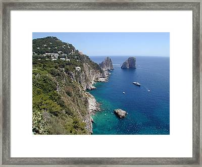 Faraglioni Framed Print by Joseph R Luciano