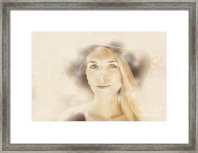 Faraway Fashion Female Framed Print