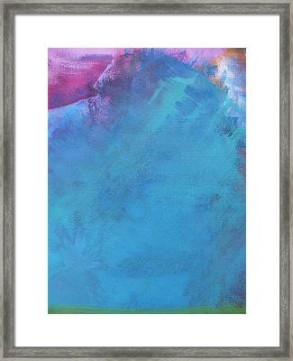 Faraway Mountain Framed Print by Lindie Racz
