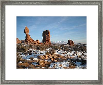 Faraway Mountains Framed Print by Liliana Ducoure