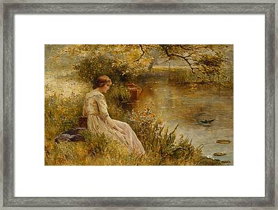 Faraway Thoughts Framed Print by Ernest Walbourn
