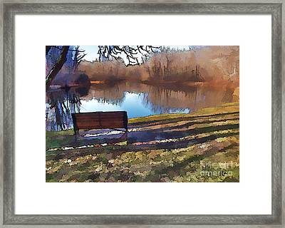 Farewell Fishing Framed Print by Betsy Zimmerli