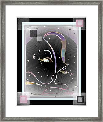 Farewell Mardi Gras Kiss Framed Print
