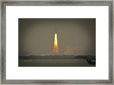 Farewell To Space Exploration Framed Print by DigiArt Diaries by Vicky B Fuller