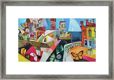 Farfalle Sul Mare Framed Print by Miljenko Bengez