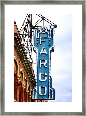 Fargo Blue Theater Sign Framed Print
