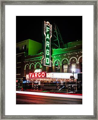 Fargo Nd Theatre At Night Picture Framed Print by Paul Velgos