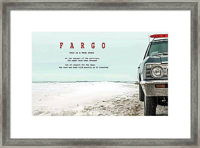 Fargo, This Is A True Story, Art Poster Framed Print by Thomas Pollart