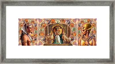 Farley Egyptian Triptych Framed Print by Andrew Farley