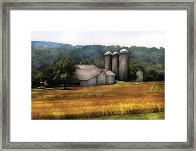 Farm - Barn - Home On The Range Framed Print by Mike Savad