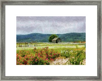 Farm - Barn - Out In The Country  Framed Print by Mike Savad