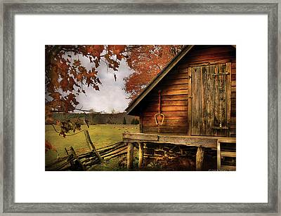 Farm - Barn - Shed Out Back Framed Print by Mike Savad