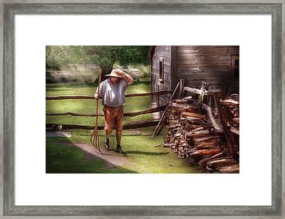 Farm - Farmer - Chores Framed Print