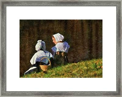 Farm - Farmer - The Young Maidens Framed Print by Mike Savad