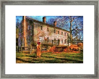 Farm - Farmer - There Was An Old Lady Framed Print by Mike Savad