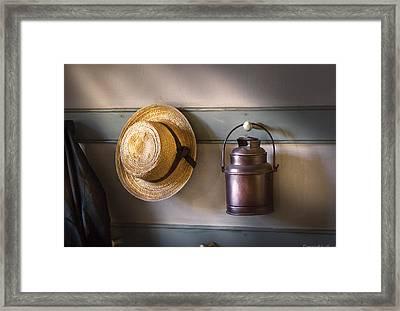Farm - Tool - The Coat Rack Framed Print by Mike Savad