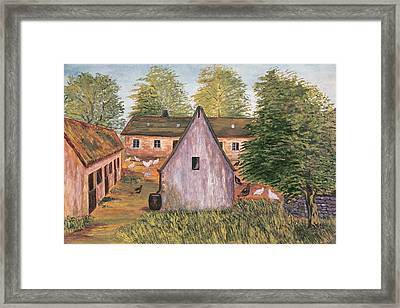 Farm And Farmyard In France Framed Print by French School