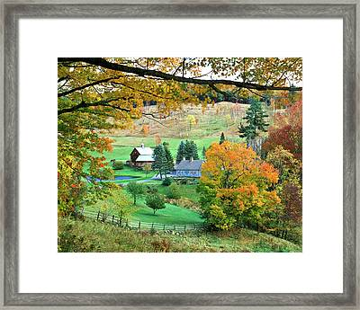 Farm And Fence Vermont Framed Print