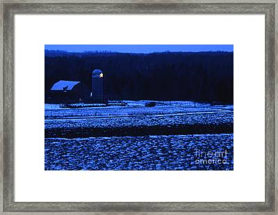 Farm At Christmas Framed Print by Timothy Johnson