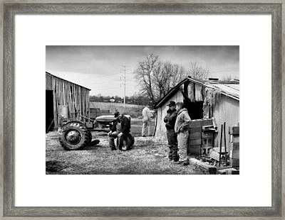 Farm Auction Framed Print