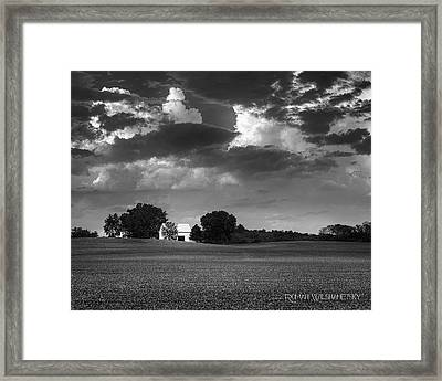 Farm Before The Storm Framed Print