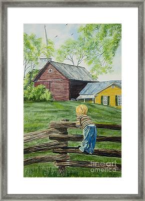 Farm Boy Framed Print by Charlotte Blanchard