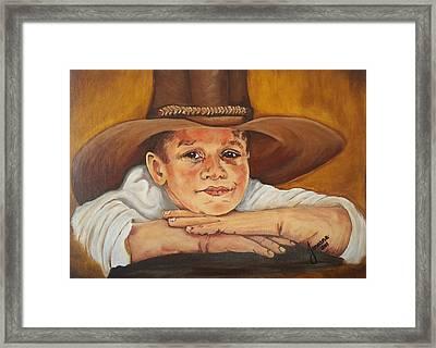 Farm Boy Framed Print by Jeneane Wilson