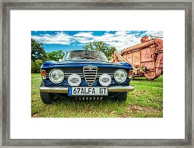 Farm Car - Alpha Gt Framed Print