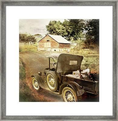 Farm Delivered Framed Print