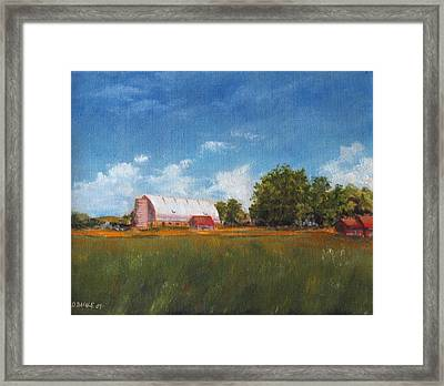 Framed Print featuring the painting Farm by Diane Daigle
