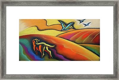 Farm Dog Framed Print