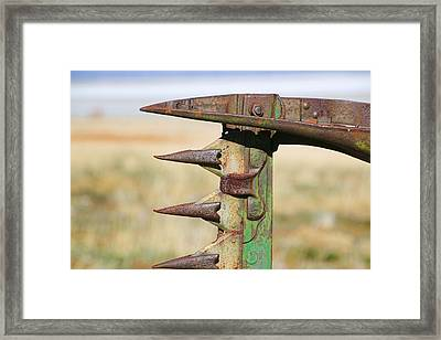 Framed Print featuring the photograph Farm Equipment 1 by Ely Arsha