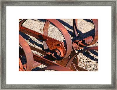 Framed Print featuring the photograph Farm Equipment 4 by Ely Arsha