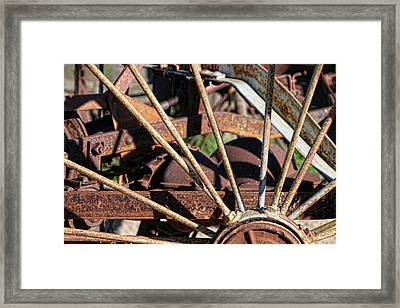 Framed Print featuring the photograph Farm Equipment 5 by Ely Arsha