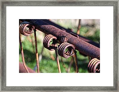 Framed Print featuring the photograph Farm Equipment 6 by Ely Arsha
