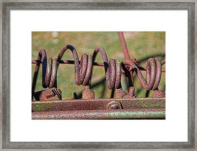 Framed Print featuring the photograph Farm Equipment 7 by Ely Arsha