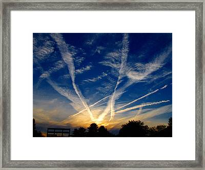 Farm Evening Skies Framed Print