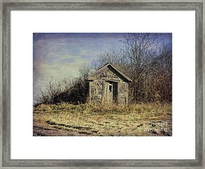 Farm Field Shed Framed Print
