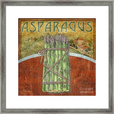 Farm Fresh Asparagus Framed Print by Paul Brent