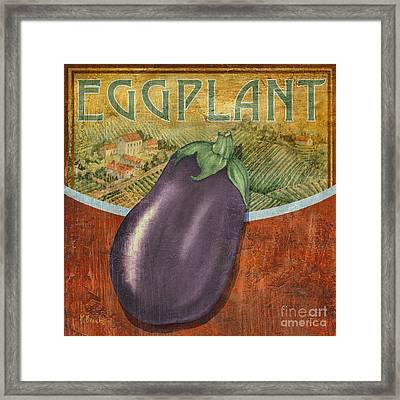 Farm Fresh Eggplant Framed Print by Paul Brent