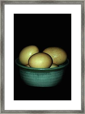 Farm Fresh Eggs Framed Print by Lesa Fine