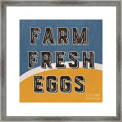 Farm Fresh Eggs Retro Vintage Sign Framed Print