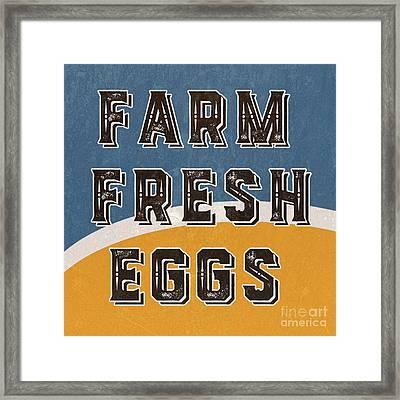 Farm Fresh Eggs Retro Vintage Sign Framed Print by Edward Fielding