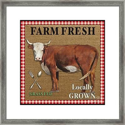 Farm Fresh-jp2383 Framed Print by Jean Plout